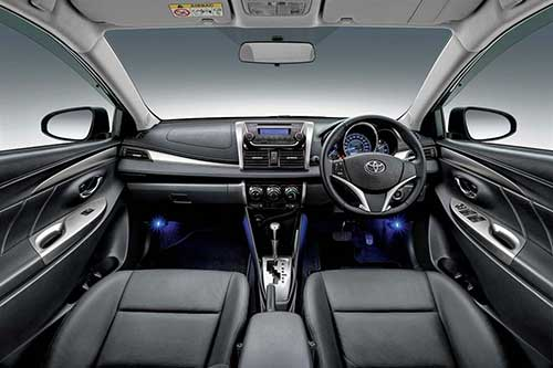 Front driver seat view Toyota Vios