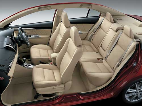 Interior side view, Toyota Vios