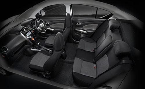 Nissan Almera driver seat view