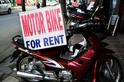 Motorbike rental service in Udon Thani